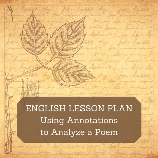 how to annotate a poem for class discussion  analysis