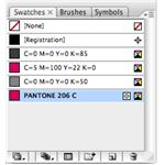 Live Color added the PMS color to Illustrator's color plaette for the document