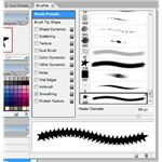 There are a variety of advanced settings in this tab for individual brushes.