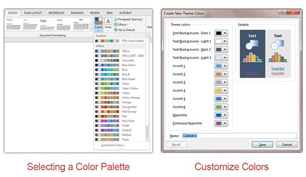 Changing Color Palettes