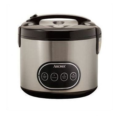 8-cup Digital Rice Cooker & Food Steamer