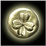 lucky shamrock medallion