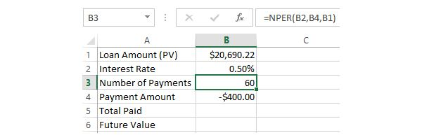 4. Calculating Number of Payments