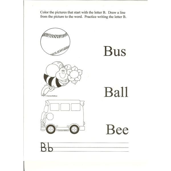 4 Activities for Letter B: Ideas for the Preschool Classroom