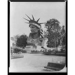 Statue of Liberty's head on display in Paris; Image courtesy of the Library of Congress