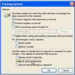 How to disable read receipts in Outlook 2003