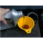 Motor oil refill with funnel