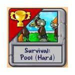 Survival Pool Hard Plants vs. Zombies