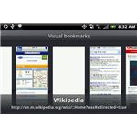 Bookmarks on the HTC Browser
