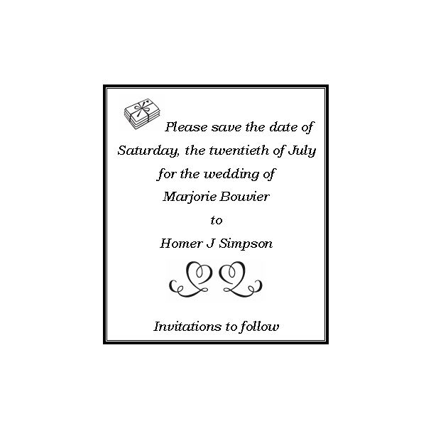 Save the Date Wording The Basics Funny Ways to Word Your Save – Wedding Save the Date Text