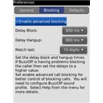 BuzzOff Blocking Menu