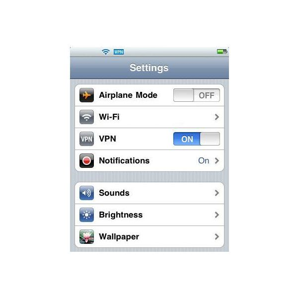 how to turn on vpn on iphone