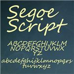Segoe Script is an example of a casual script typeface