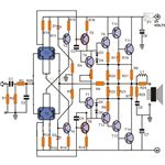 Transistor Power Amplifier Circuit Diagram, Image