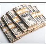 """""""$100 bills in $10,000 straps"""