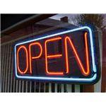 Neon Open Sign by Aaron Pruzaniec Wikimedia Commons