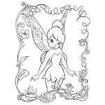 Tinkerbelle Coloring Page (from Crayola)