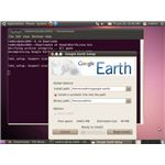 The Google Earth installer running on Ubuntu 10.04