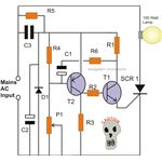 Simple SCR AC Mains Lamp Flasher Circuit Diagram, Image