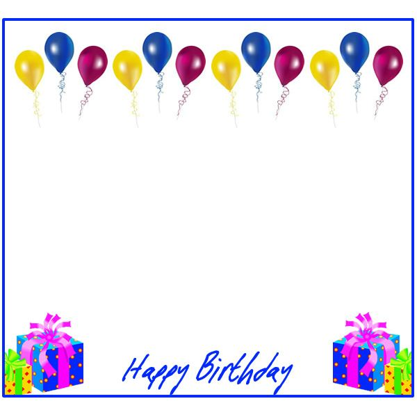 Free Birthday Borders for Invitations and Other Birthday Projects – Free Clipart for Birthday Invitations