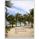 Toes in Sand Theme Retirement Invitation
