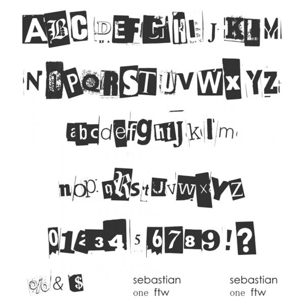 Where To Find Free Typefaces, Ransom Note Style