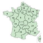 Numbered French Departments