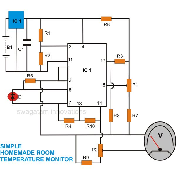 6102afb7f308b873fa862d8eb6706128e8a98f0b_large how to make a versatile room temperature monitor circuit at home electrical diagram for a room at reclaimingppi.co