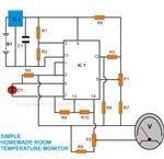 Room Temperature Monitor, Circuit Diagram, Image