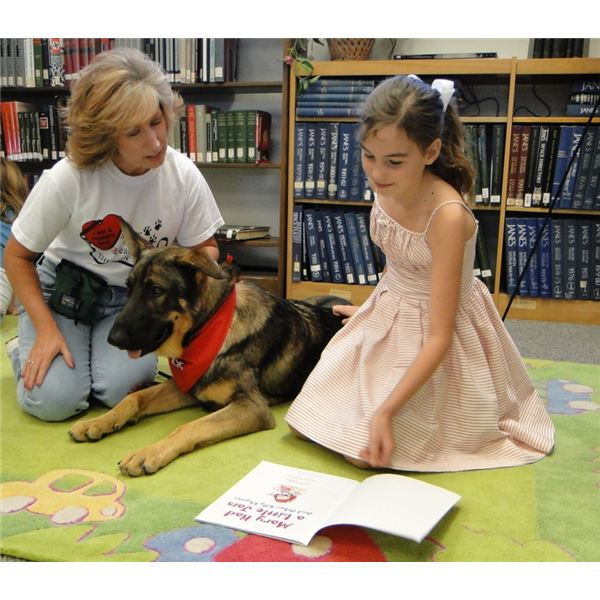 Dog Reading Benefit of Reading to Dogs