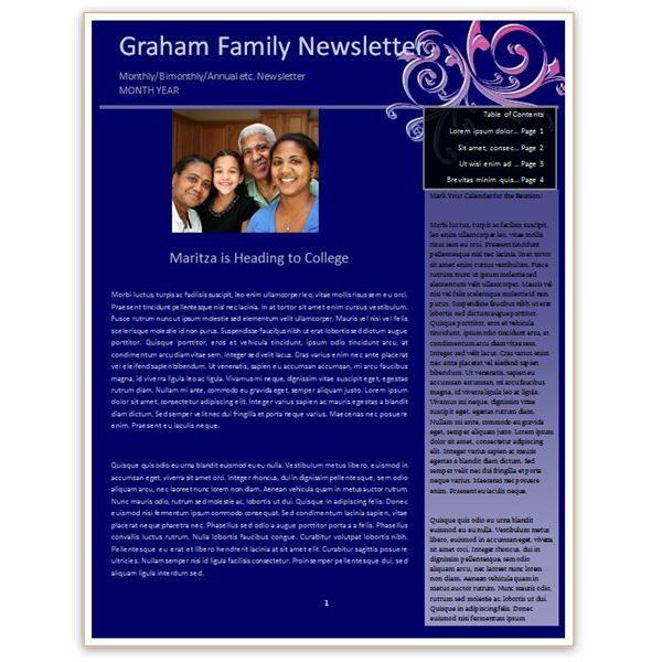 Blue Newsletter Template