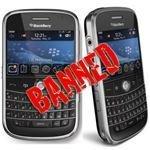 blackberry ban
