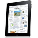 iPad product image - reading newspaper