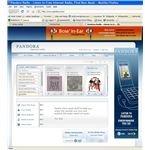 Pandora (with Hotspot Shield provided ad at top)