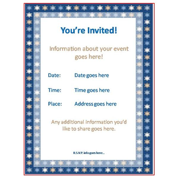 Sample Invitation Cards