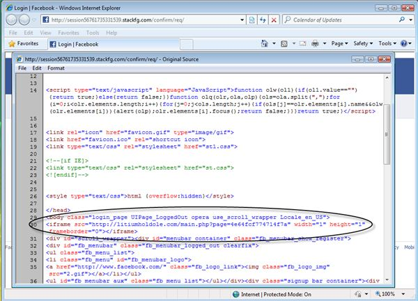 An Exploit Kit in a Fraudulent Facebook Page