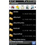 Astro File Manager File List