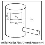 Orifice Outlet Flow Control Parameters