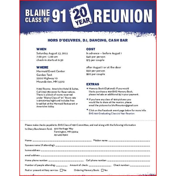 High School Reunion Flyers: A Nice Selection Of Customizable Templates