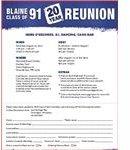 Blaine HS Flyer
