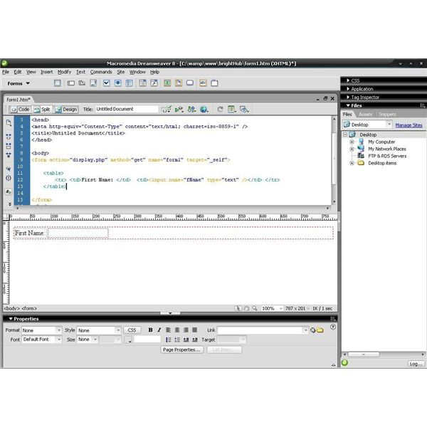 how to make a easy website in dreamweaver