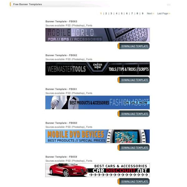 top 10 free website banner templates free designs and banner