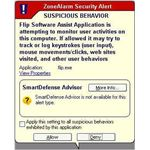 ZoneAlarm - Popup Alert Box