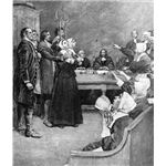 Salem Witch Trial Engraving in the Public Domain via Wikimedia Commons