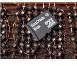 A MicroSDHC card
