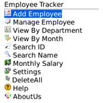 Employee Tracker Main Window