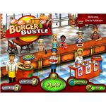 Burger Bustle game menu