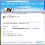 Live Safety scanner for Windows Live Messenger found virus