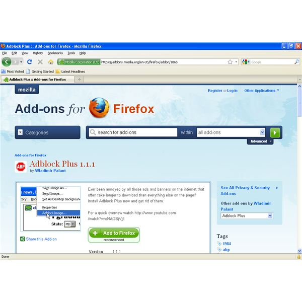 how to turn on adblock plus in firefox