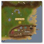 Location of Feldip Weasel in Runescape